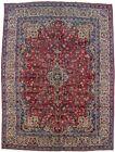 Red Floral Design Vintage Large 10X13 Handmade Oriental Rug Wool Decor Carpet