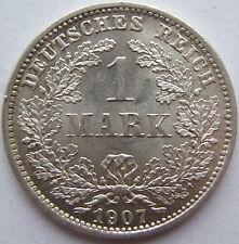 TOP! 1 Mark 1907 D in BANKFRISCH / STEMPELGLANZ !!!