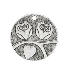 Owl Charm/Pendant Tibetan Antique Silver 25mm  5 Charms Accessory DIY Jewellery