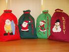 CHILD'S PERSONALISED CHRISTMAS/SANTA SACKS - 13 Designs Available -