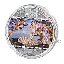 Cook Islands 2008 20$ Birth of Venus Masterpieces of Art 3oz. fine silver coin