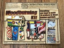 NSI Wood Burning Kit Make 10 Projects In Wood Leather And Cork New In Open Box!