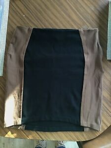 Country Road extra large Ladies Mini Skirt Brown Black Career Excellent