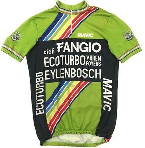Vintage Team Fangio Mavic Eylenbosch Marc Alan Cycling Bike Shirt Jersey Mens XL