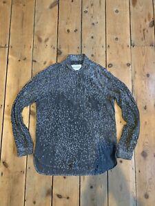 Our Legacy Shawl Zip Shirt Grey Virgin Wool Size 46