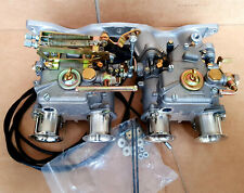 Ford Pinto manifold with 40 dcoe carbs, linkage kit fuel unions trumpets
