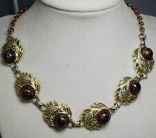 Vintage Copper Speckled Jet Glass Pinecone Necklace