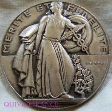 MED1745 - MEDAILLE ART DECO MERITE & FIDELITE par BAUDRY - FRENCH MEDAL