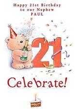21st Birthday A5 Card Personalised Son Grandson Godson Brother Nephew Friend Dad