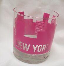 Sisters Of Los Angeles SOLA Popsugar Rocks City Cup Bar Glass New York NY Pink