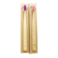 Dr.Perfect 2 Pieces Bamboo Toothbrush Soft Two Colors Bristles For Adult