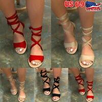 Women's Flat Ankle Strap Gladiator Sandals Open Toe Lace Up Casual Summer Shoes