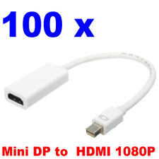 100 x Mini Display Port Thunderbolt DP to HDMI Adapter for MacBook Pro Air Mac
