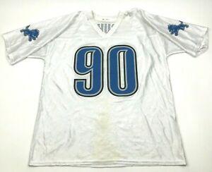 NFL Ndamukong Suh Detroit Lions Football Jersey Size Extra Large XL White Blue