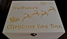 Personalised Engraved Wooden Christmas Eve Box - Engraved With Anything You Want
