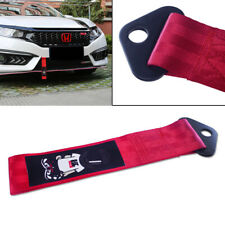 Red High Strength Racers Racing Tow Towing Strap Hook Fits Front Or Rear Bumper