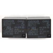 2 PCS G5LA-14 5V DC OMRON PCB Type Power Relay