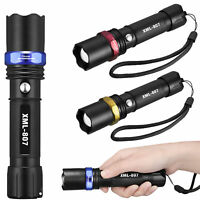 Tactical Police 90000Lumens LED T6 3Modes Flashlight Aluminum Torch Zoomable USA