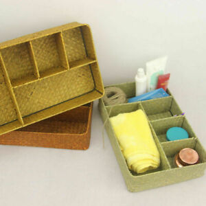 5-Grids Rectangular Seagrass Basket Storage Laundry Desk Box Container Organizer