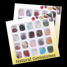 20PCS Mixed Tumbled Stones Natural Quartz Crystal Bulk Gemstones Healing New US