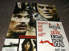 Before the Devil Knows You're Dead vintage 2008 video promo poster