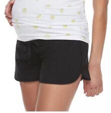 a Glow Maternity Black Lounge Shorts Full Panel XXL Extra Large 2xl Size 20