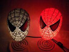 Spider-Man Black Symbiote Red Light Up Head Marvel Comics SPIDERMAN Lamp Set Lot