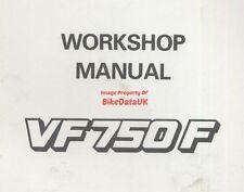 Honda VF750F (1983 - >) Manual de servicio de fábrica original vf 750 F RC15 V-cuatro AJ44