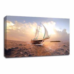 Canvas Prints Home Decor Wall Art Sailing Boat Canvas Wall Painting Art No Frame