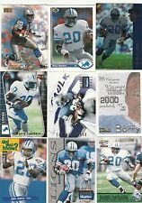 Barry Sanders lot of 9 different cards, lot 2
