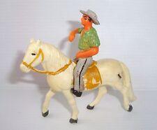 Figurine ancienne clairet cavalier de Camargue