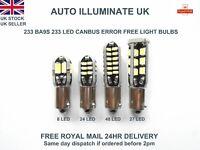 Ba9s 233 T4W Led White Car Interior Side Light Bulbs Lamps Canbus No Error 12V