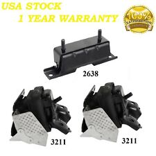 3 PCS MOTOR /& TRANS MOUNT FOR 2007-2009 CHEVROLET AVALANCHE 4WD 5.3L /& 6.0L