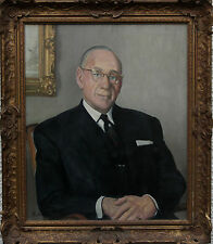 HARRY RUTHERFORD 1903-1985 BRITISH  NORTHERN PORTRAIT OIL PAINTING ART LOWRY