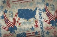 Quilts of Valor patriotic eagles stars stripes flags River Bend fabric