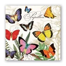 Michel Design Works 20 Triple-Ply Paper Cocktail Napkins Papillon Butterflies