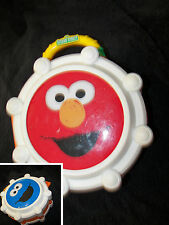 "Elmo and cookie monster drum carry case *"" round  cute Sesame Street"