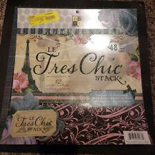 DCWV Le Tres Chic paper Stack 12x12 - GLitter floral paris papers