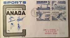 Postal History Canada Fdc #365-368 Recreation Sports 1957 Ottawa, Cachet Craft