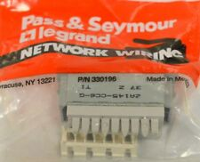 Pass & Seymour 2A145-Cc6-G Single Port Rj45, Cat 6, T568 A/B Univ. Wiring -10 p