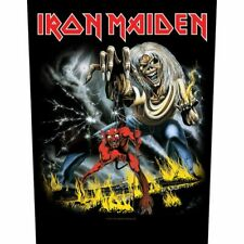 "IRON MAIDEN - ""NUMBER OF THE BEAST"" - LARGE SIZE - SEW ON BACK PATCH"