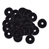 50 Pieces Felt Strap Lock Washers Black for Acoustic/Electric Guitar Parts