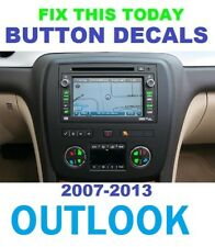 2007-2013 SATURN OUTLOOK CLIMATE FAN AND RADIO WITH NAV.DECAL REPAIR SET