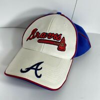 Atlanta Braves MLB Logo Hat Cap Tomahawk Drew Pearson Adjustable Red White Blue