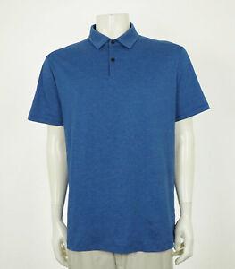 Lululemon Heather Blue Casual Tech Dry Golf Polo Shirt Mens Large