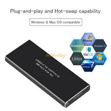 USB 3.0 to NGFF M.2 SSD Hard Disk Box B Key SSD Adapter External Enclosure Case
