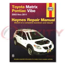 Haynes Repair Manual for Pontiac Vibe AWD Base GT Shop Service Garage Book zf