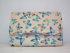 Mundi Amsterdam Flutter RFID Butterfly Wallet Tri-Fold w/several sections NWT