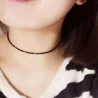 Crystal Clavicle Choker Charm Gift Pendant Party Necklace Black Jewelry Women