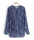 #A04 New Women's Plus Size 16 18 20 22 24 26 Long Sleeve Shirt Blouse Top